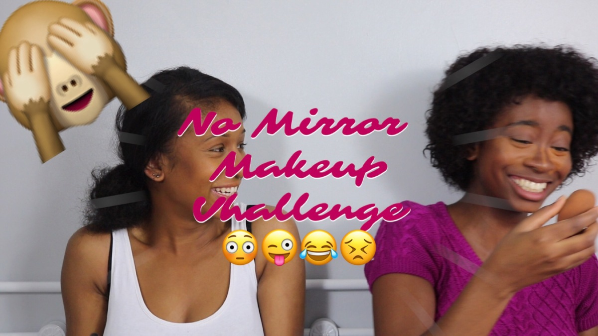 Sunday Fun-day: No Mirror Makeup Challenge!